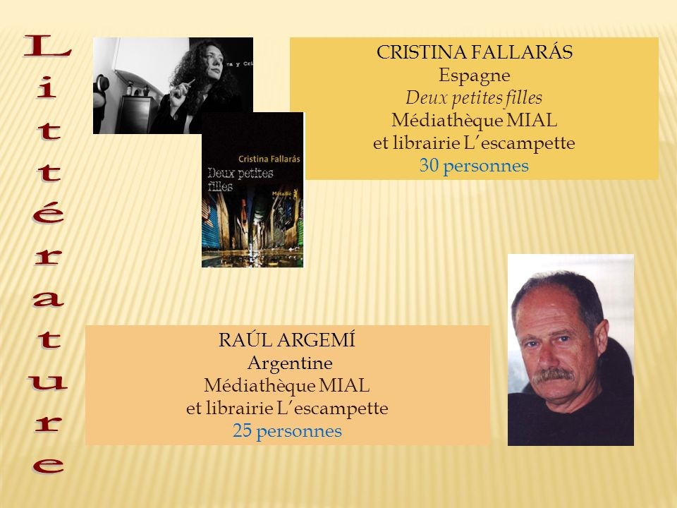 Littérature CRISTINA FALLARÁS Espagne Deux petites filles