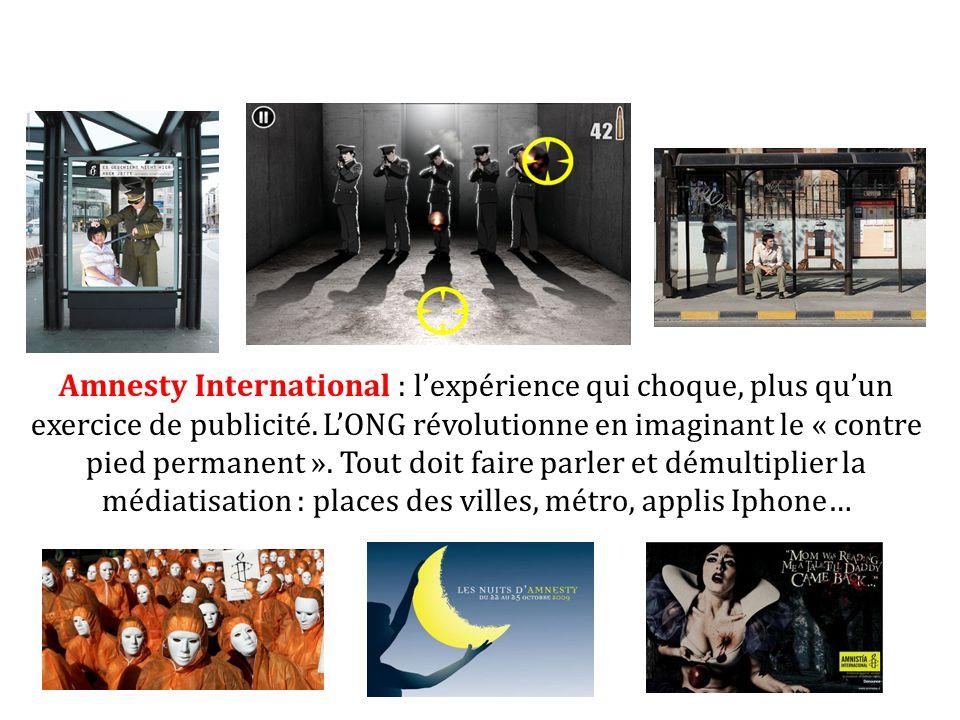 Amnesty International : l'expérience qui choque, plus qu'un exercice de publicité.