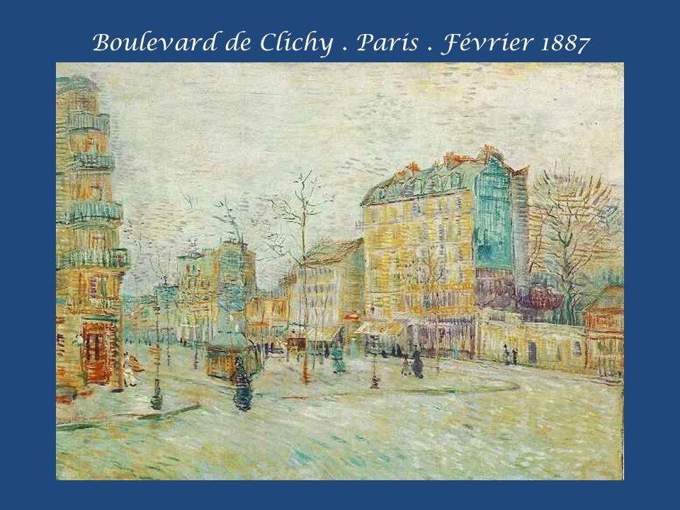Boulevard de Clichy . Paris . Février 1887