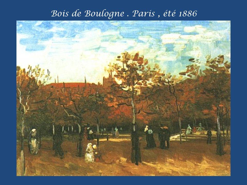 Bois de Boulogne . Paris , été 1886