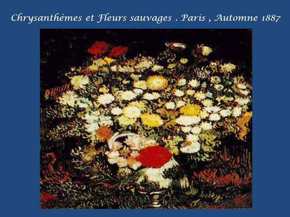 Chrysanthèmes et Fleurs sauvages . Paris , Automne 1887