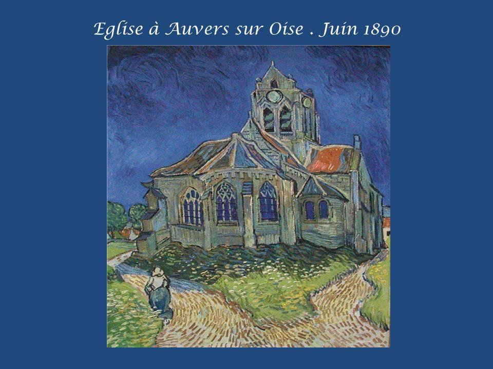 Eglise à Auvers sur Oise . Juin 1890