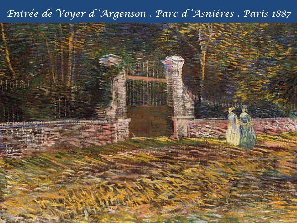 Entrée de Voyer d 'Argenson . Parc d 'Asniéres . Paris 1887