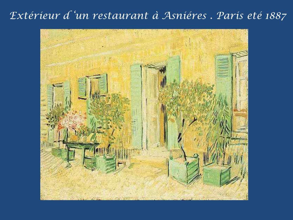 Extérieur d 'un restaurant à Asniéres . Paris eté 1887