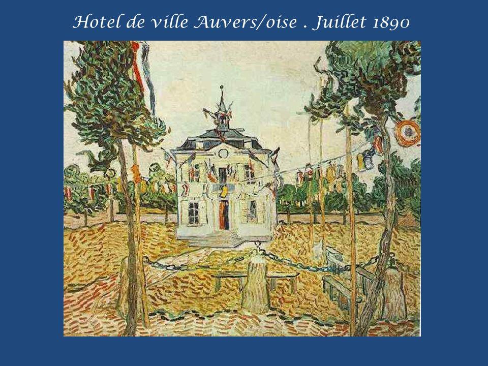 Hotel de ville Auvers/oise . Juillet 1890