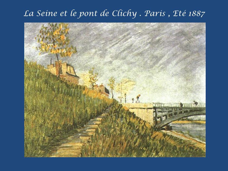 La Seine et le pont de Clichy . Paris , Eté 1887