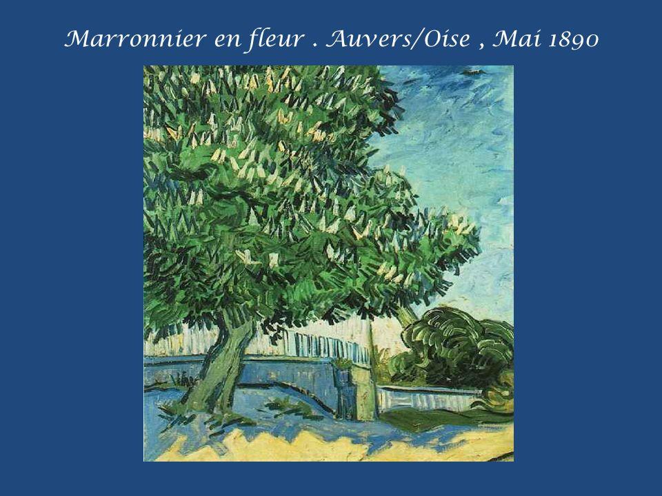 Marronnier en fleur . Auvers/Oise , Mai 1890