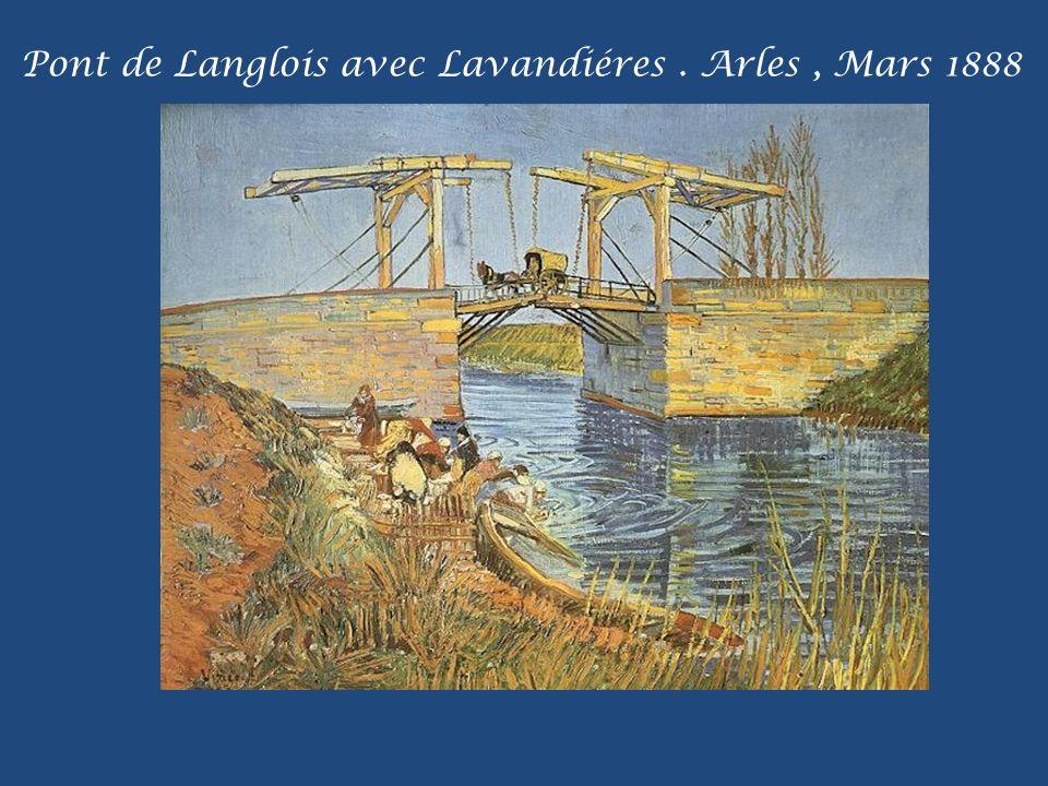 Pont de Langlois avec Lavandiéres . Arles , Mars 1888