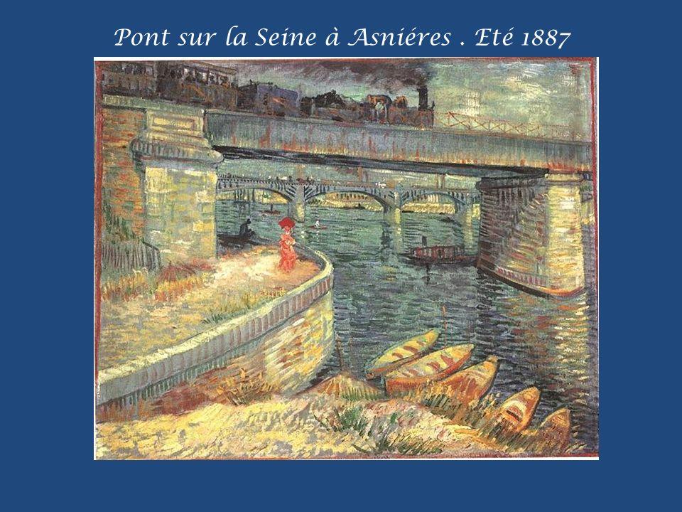 Pont sur la Seine à Asniéres . Eté 1887