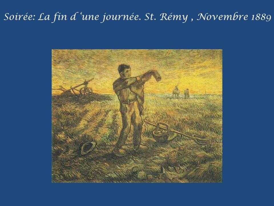 Soirée: La fin d 'une journée. St. Rémy , Novembre 1889