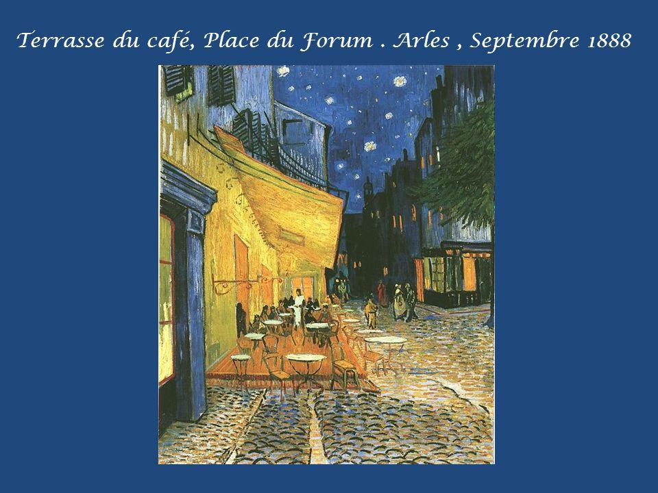 Terrasse du café, Place du Forum . Arles , Septembre 1888