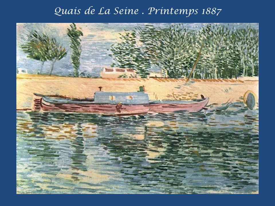 Quais de La Seine . Printemps 1887