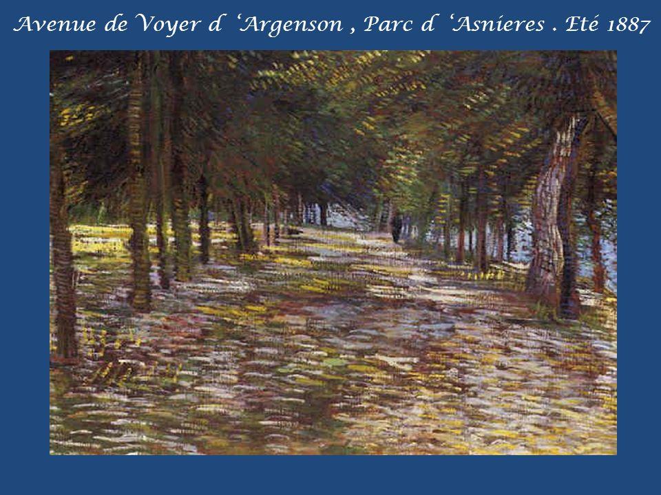 Avenue de Voyer d 'Argenson , Parc d 'Asnieres . Eté 1887