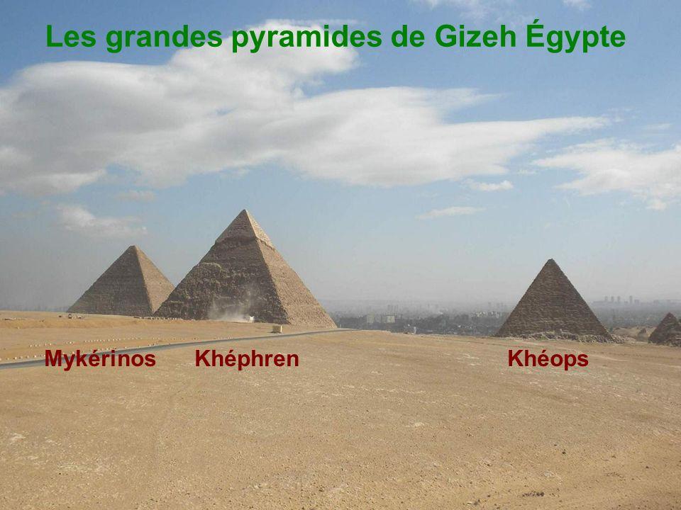 Les grandes pyramides de Gizeh Égypte