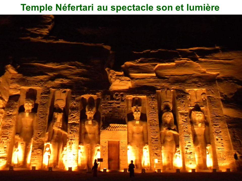 Temple Néfertari au spectacle son et lumière