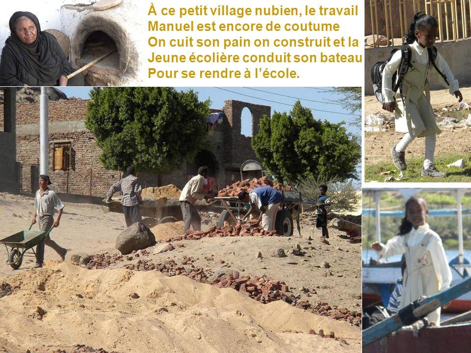 À ce petit village nubien, le travail