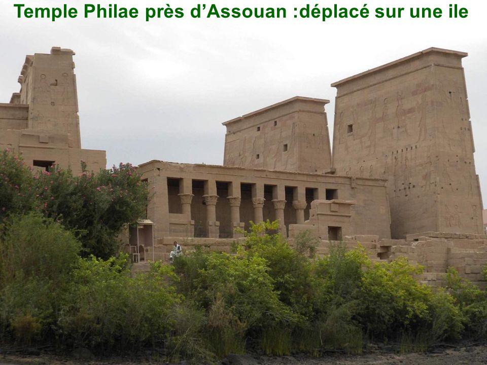 Temple Philae près d'Assouan :déplacé sur une ile
