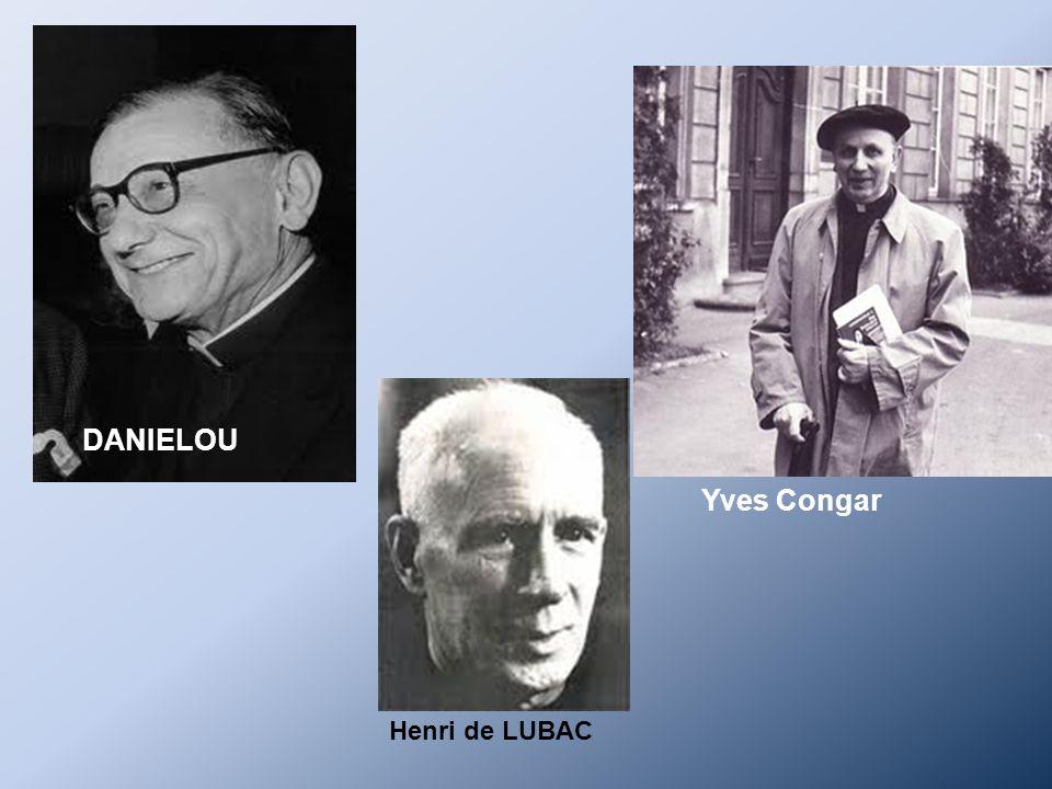 DANIELOU Yves Congar Henri de LUBAC