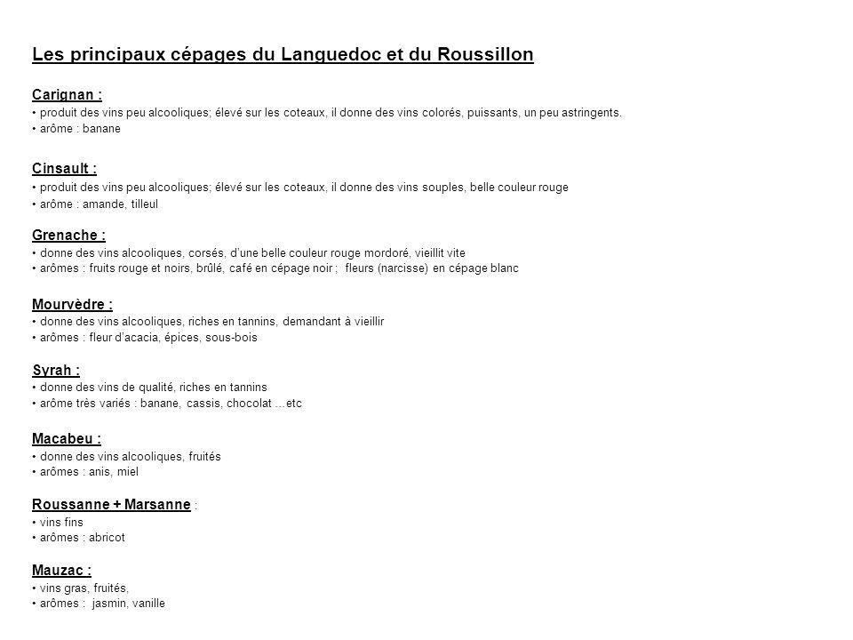 Les principaux cépages du Languedoc et du Roussillon