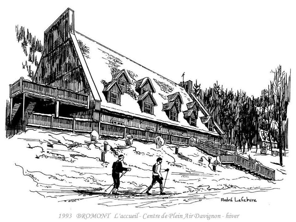 1993 BROMONT L accueil - Centre de Plein Air Davignon - hiver