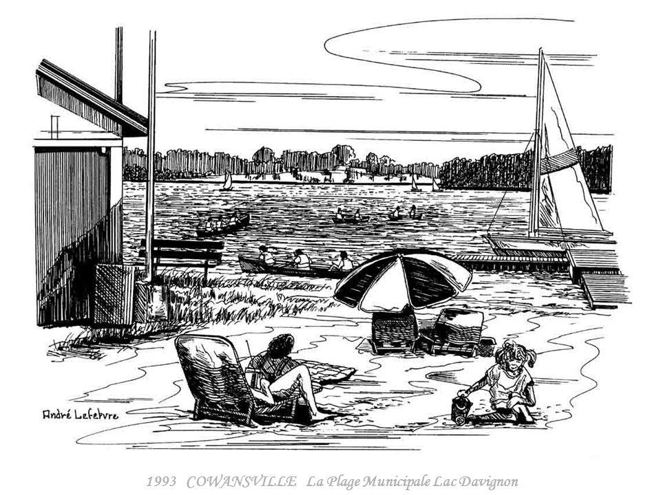 1993 COWANSVILLE La Plage Municipale Lac Davignon