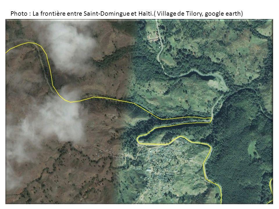 Photo : La frontière entre Saint-Domingue et Haïti