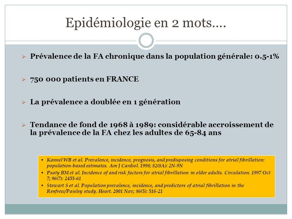 Epidémiologie en 2 mots….