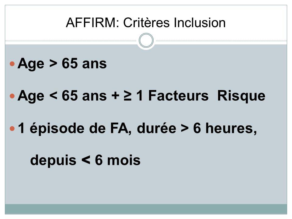 AFFIRM: Critères Inclusion