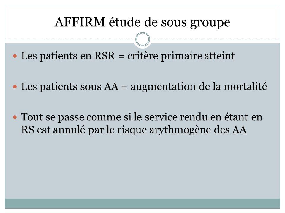 AFFIRM étude de sous groupe