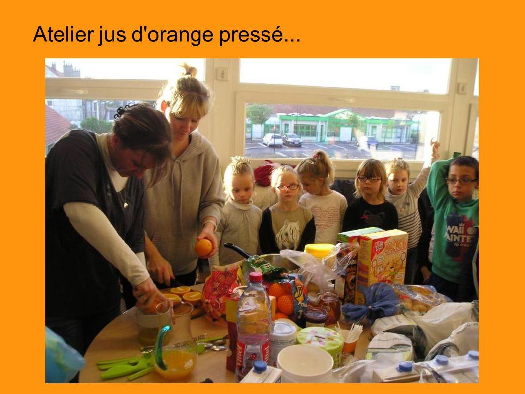 Atelier jus d orange pressé...