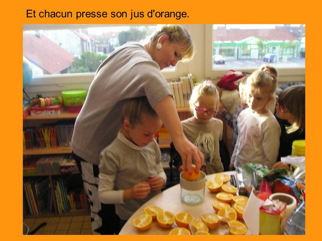 Et chacun presse son jus d orange.