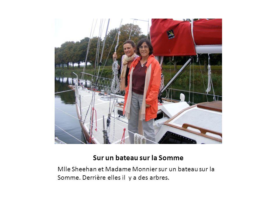Sur un bateau sur la Somme