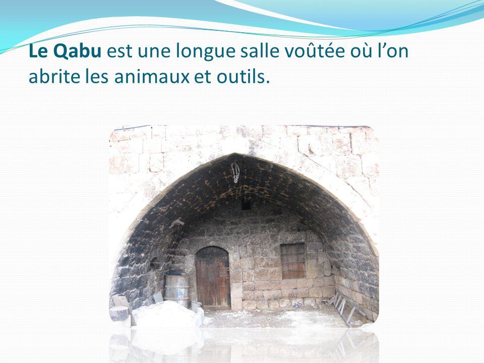 Le Qabu est une longue salle voûtée où l'on abrite les animaux et outils.