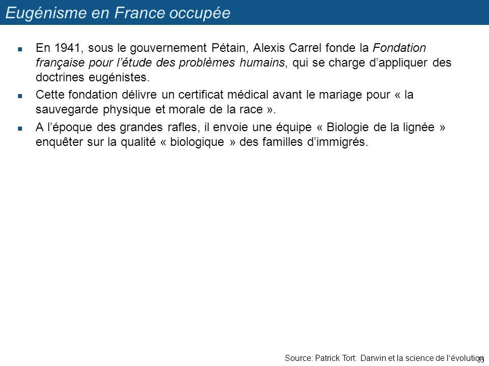 Eugénisme en France occupée