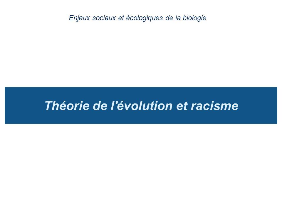 Théorie de l évolution et racisme