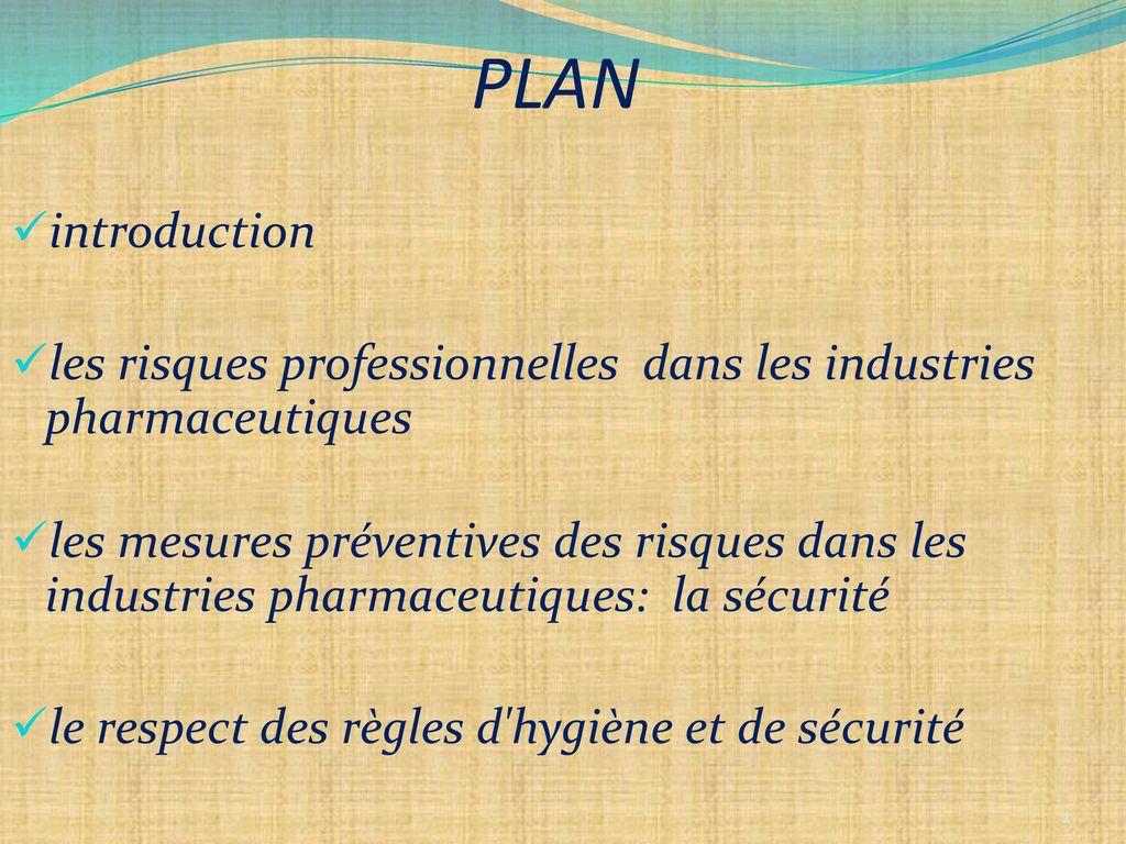hygi u00e8ne et s u00e9curit u00e9 dans les industries pharmaceutiques