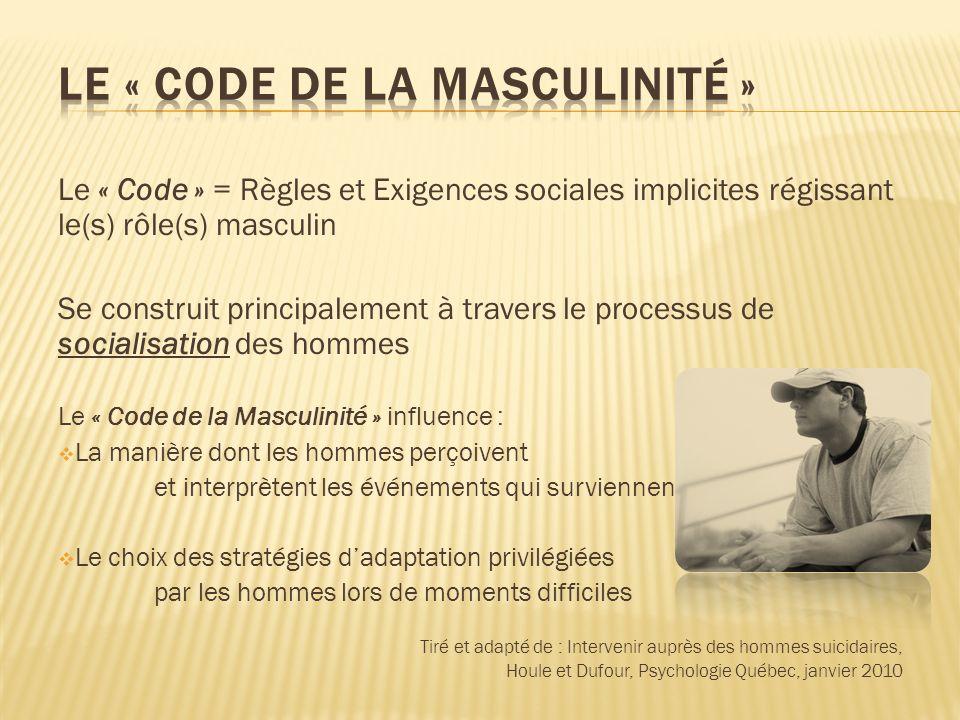 Le « Code de la Masculinité »