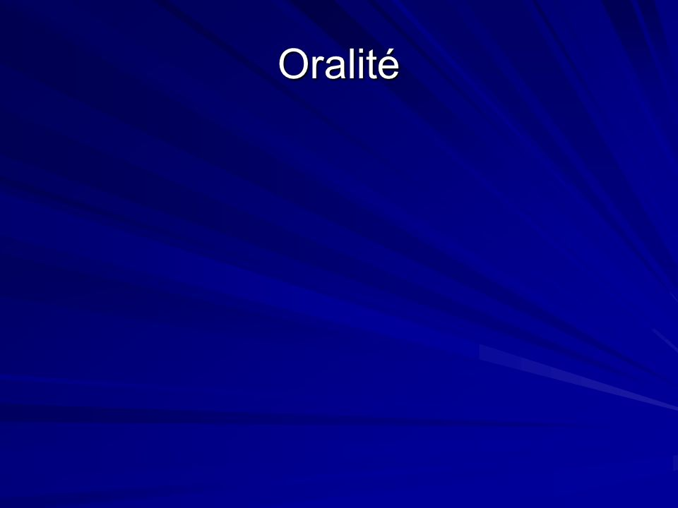 Oralité