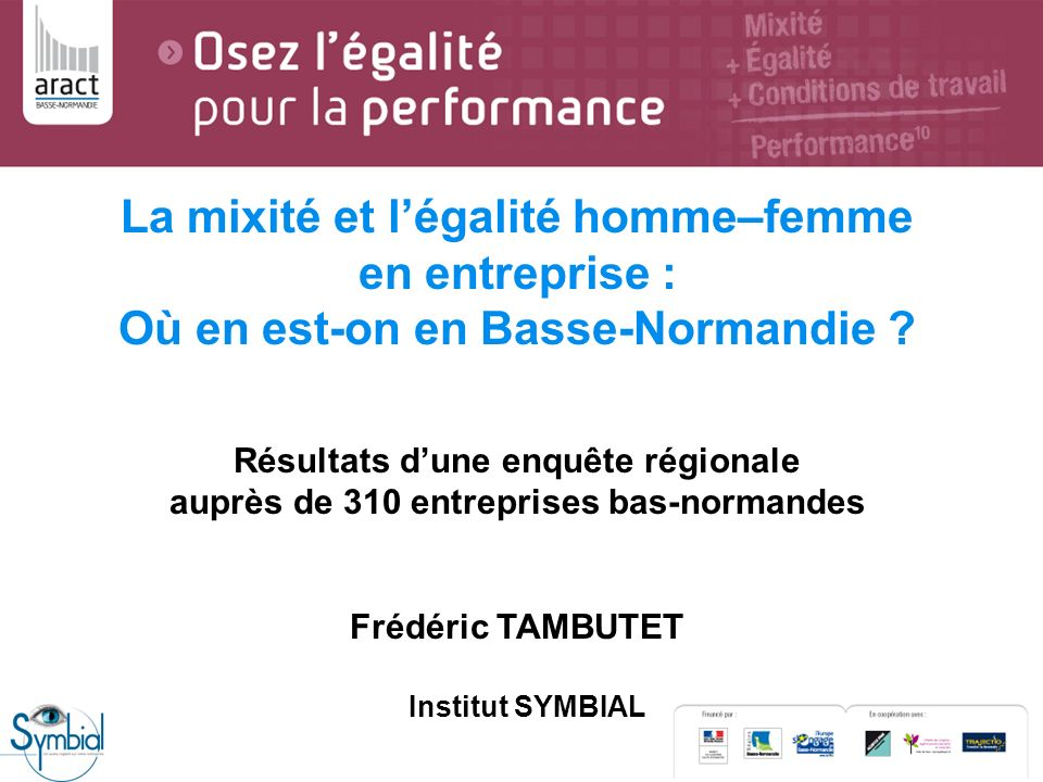 La mixité et l'égalité homme–femme en entreprise : Où en est-on en Basse-Normandie