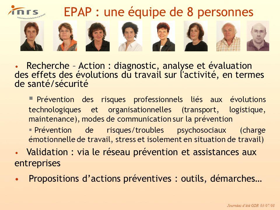 EPAP : une équipe de 8 personnes