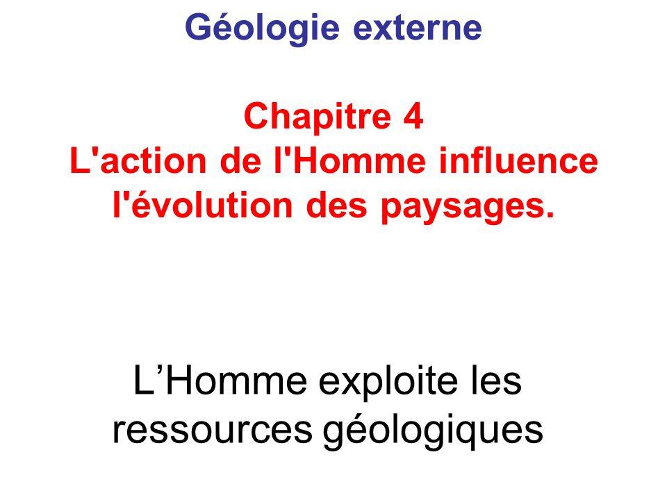 L'Homme exploite les ressources géologiques