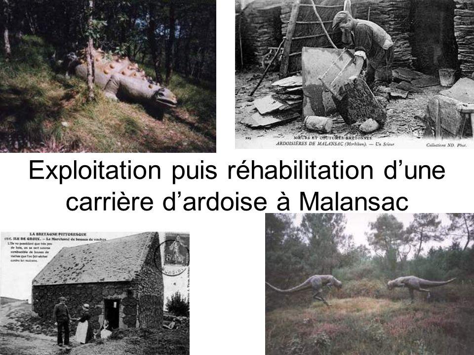 Exploitation puis réhabilitation d'une carrière d'ardoise à Malansac