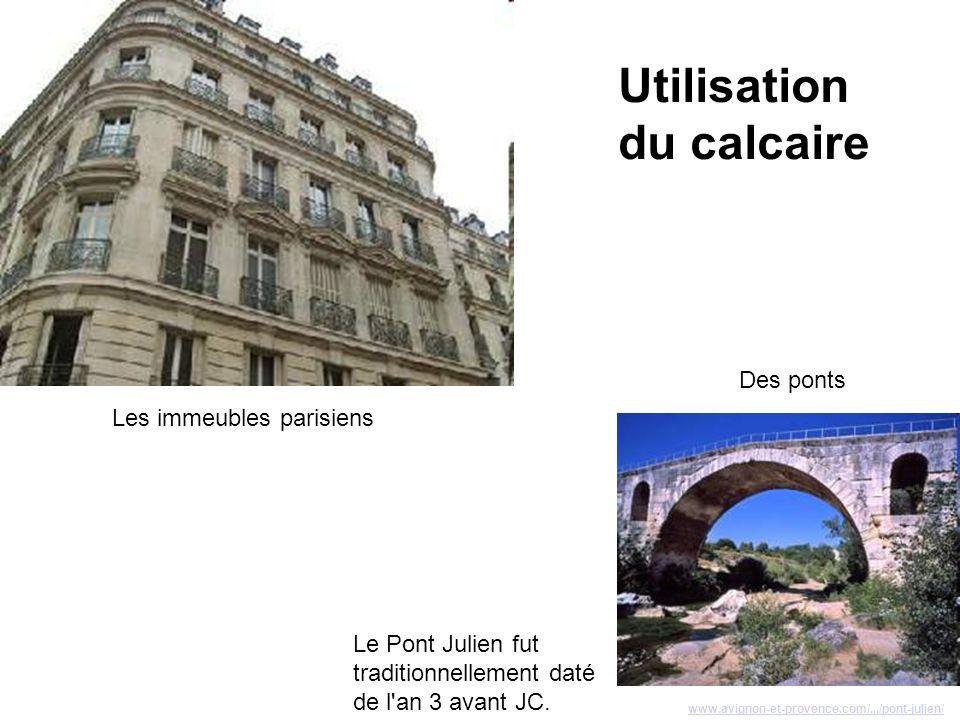 Utilisation du calcaire Des ponts Les immeubles parisiens