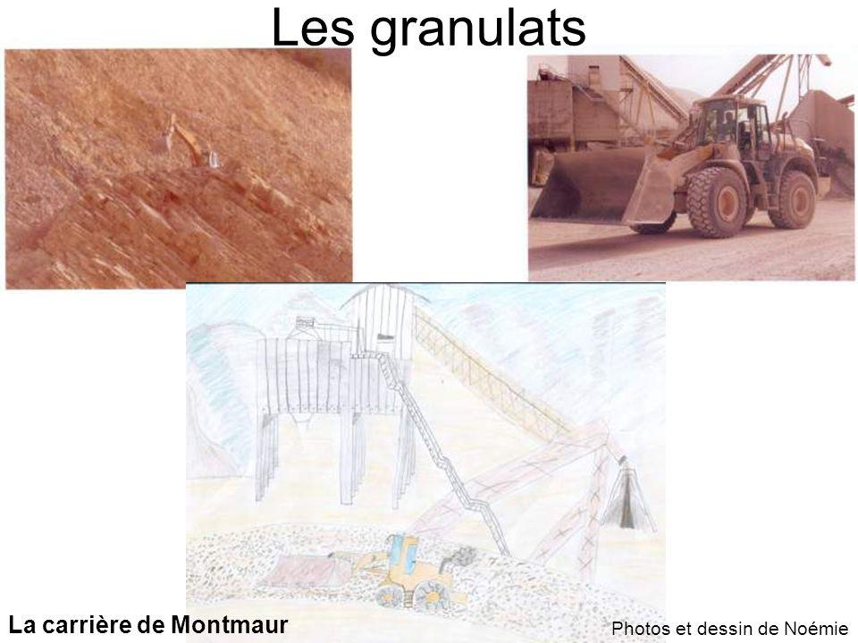Les granulats La carrière de Montmaur Photos et dessin de Noémie