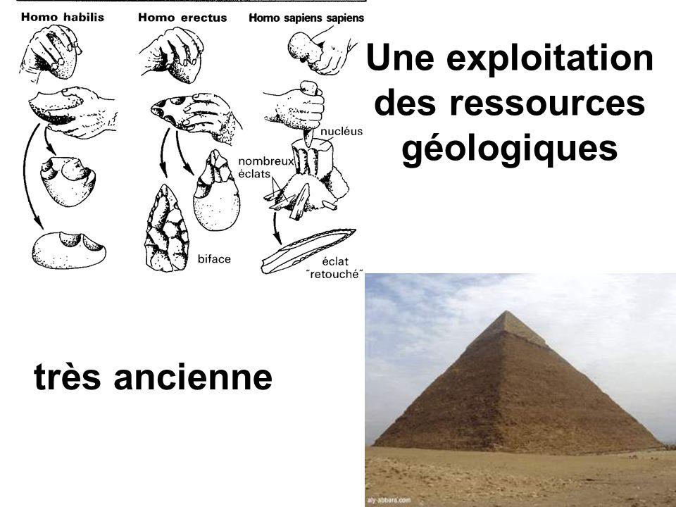 Une exploitation des ressources géologiques