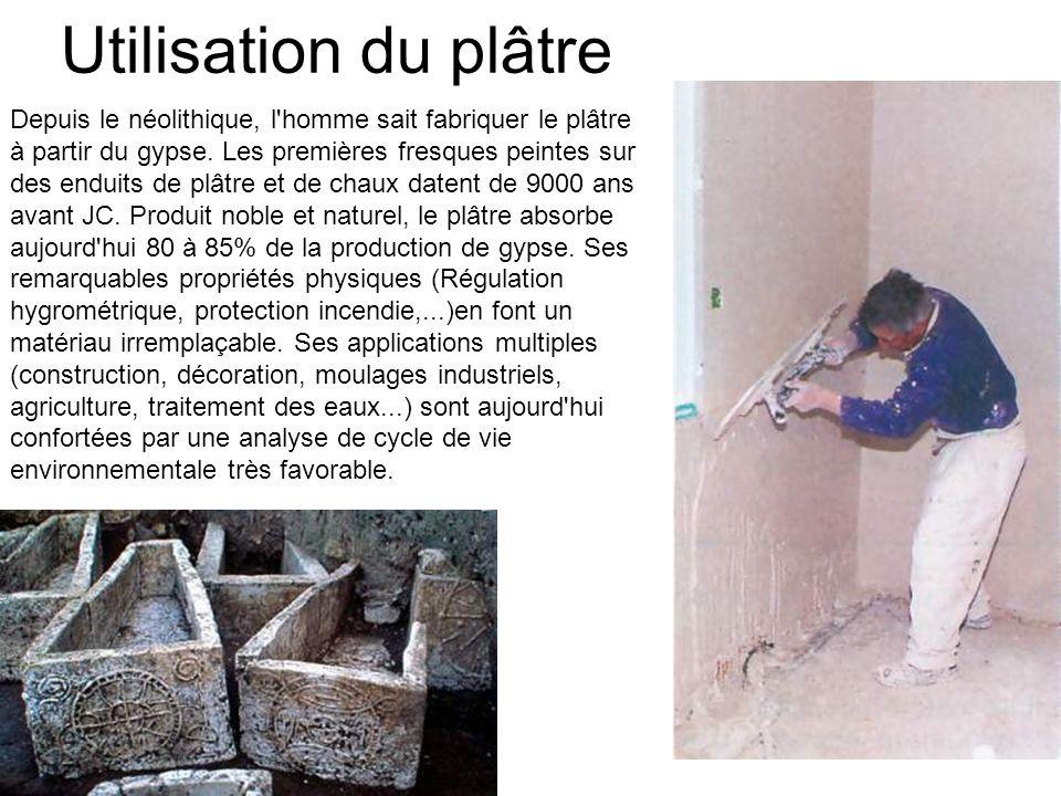 Utilisation du plâtre