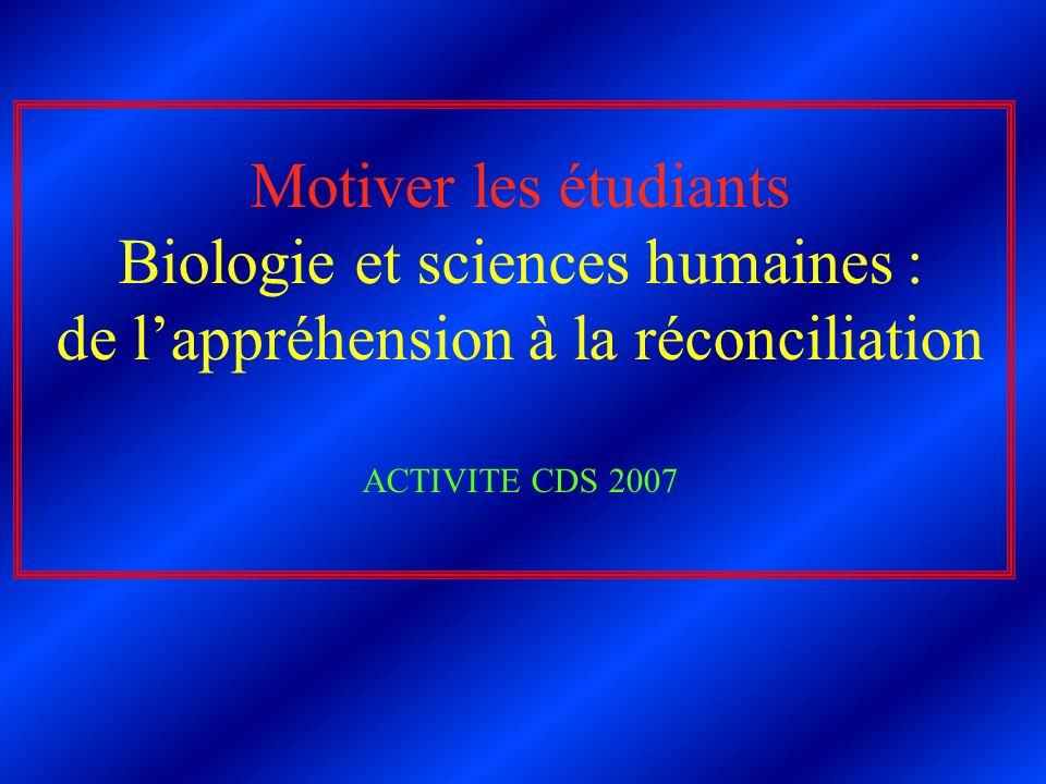 Biologie et sciences humaines : de l'appréhension à la réconciliation