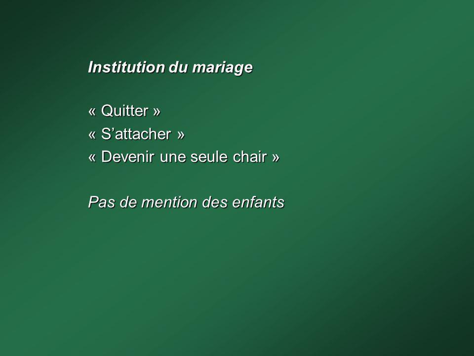 Institution du mariage