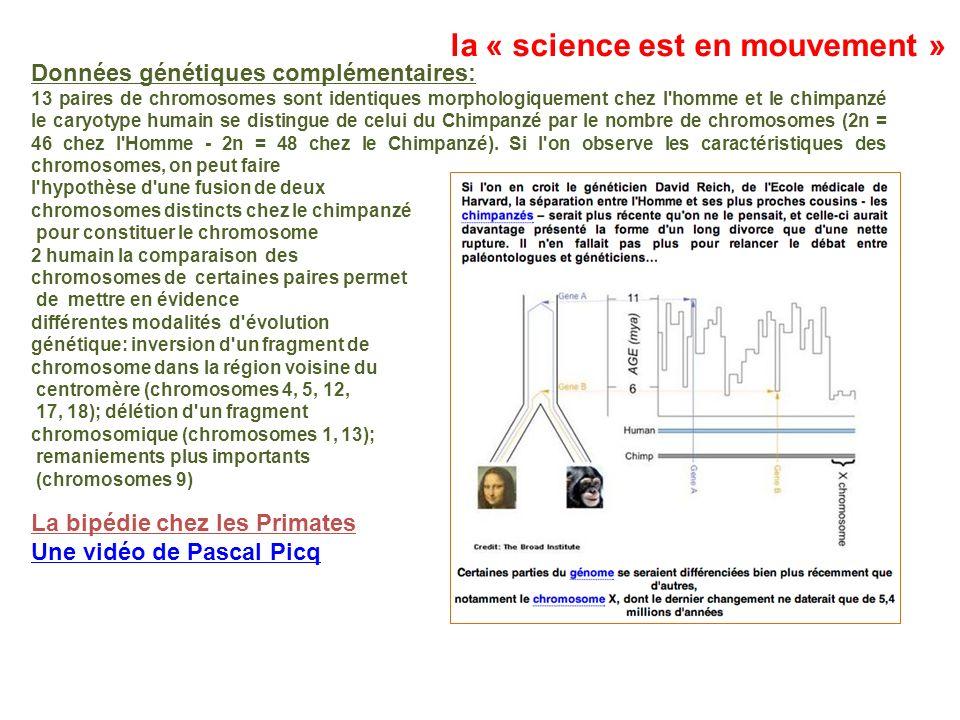 la « science est en mouvement »