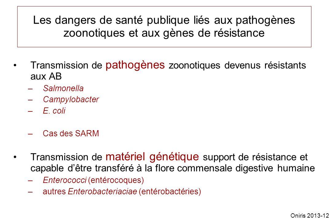 Les dangers de santé publique liés aux pathogènes zoonotiques et aux gènes de résistance